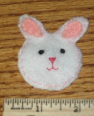 new - handstitched girl felt hair clip - BUNNY for Easter or Spring - ship included