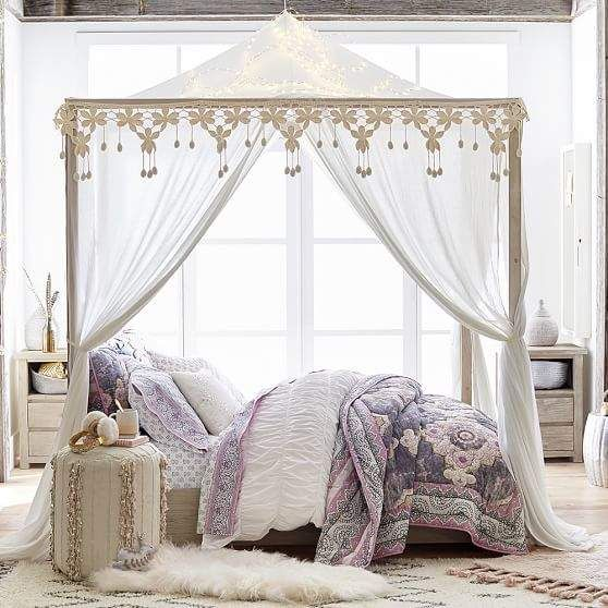 Best Casual Boho Canopy White Canopy Bed Frame Queen Canopy 400 x 300