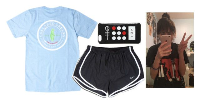 """""""{read d}"""" by ava-navarrrroo ❤ liked on Polyvore featuring NIKE"""