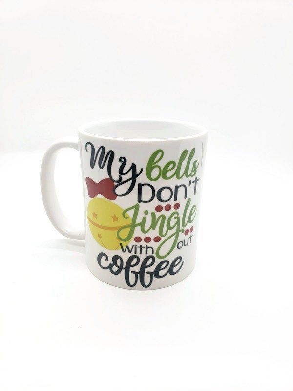 Jingle bells Coffee Mug / holiday gift mug / i love coffee mug / Christmas mug / funny coffee mug #funnycoffeemugs