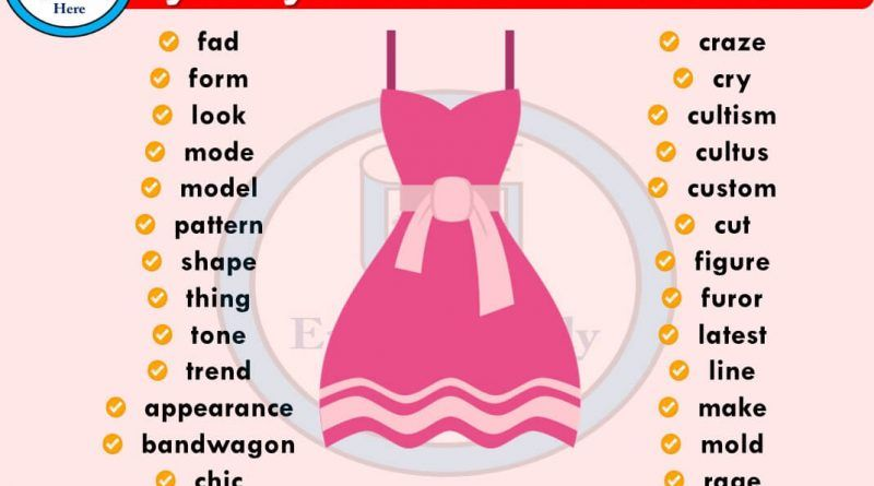 Fashion Synonyms Words Hering