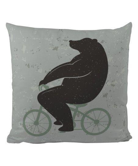Butter Kings Bike Bear Pillow Case | zulily
