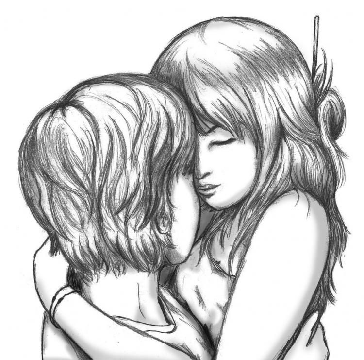 Dibujo De Parejas Enamoradas Romanticas En 2019 Dibujos De