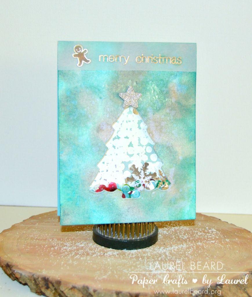 Watercolor shaker card