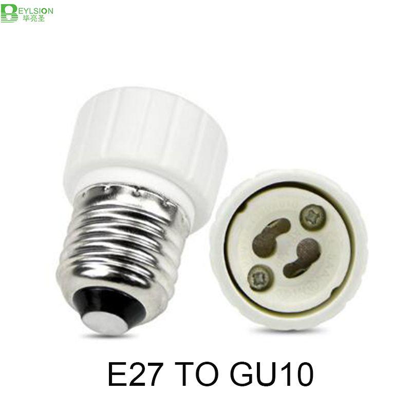 1x Nieuwe E27 Naar Gu10 Converter Led Light Lamp Adapter Adapter Schroef Socket Keramische Materiaal E27 Naar Gu10 Socket Bulb Adapter Led Light Lamp Lamp Bulb