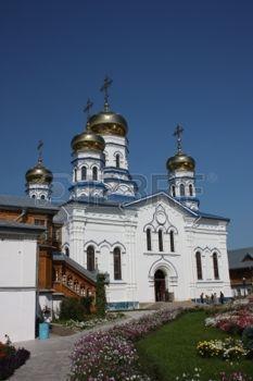 republic of chuvashia: Russia, Chuvash Republic, Tsivilsk The Virgin of Tikhvin Monastery Cathedral of Our Lady of Tikhvin Stock Photo