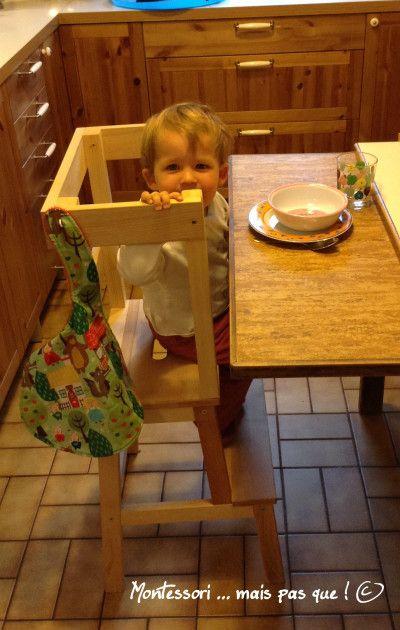 Chaise d'apprentissage Montessori | Chaise haute, Escabeau