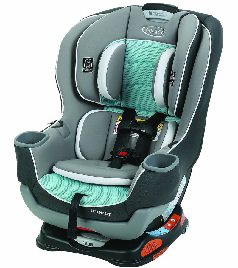 Graco extend2fit convertible car seat spire baby car