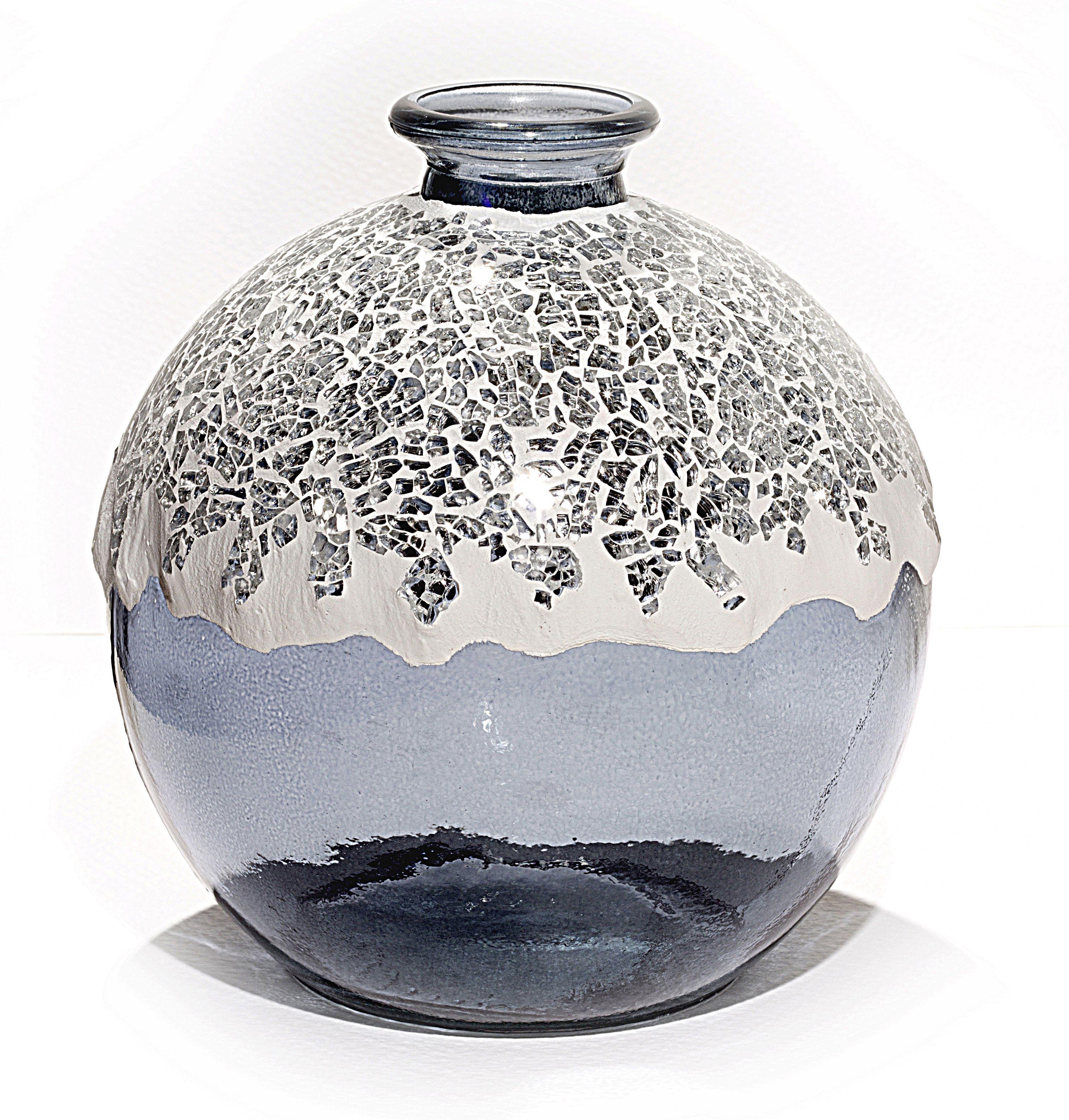 Florero de cristal decorado con mosaico de espejo colorazul florero de cristal decorado con mosaico de espejo colorazul tamao17x17 cm floridaeventfo Image collections