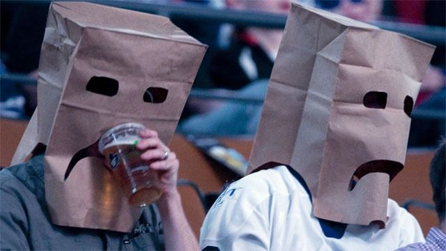 Leaf's fans @ rangers game on tuesday....