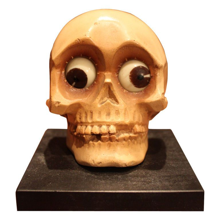 German Rotating Eye Skull Clock By Oswald | From A Unique Collection Of  Antique And Modern