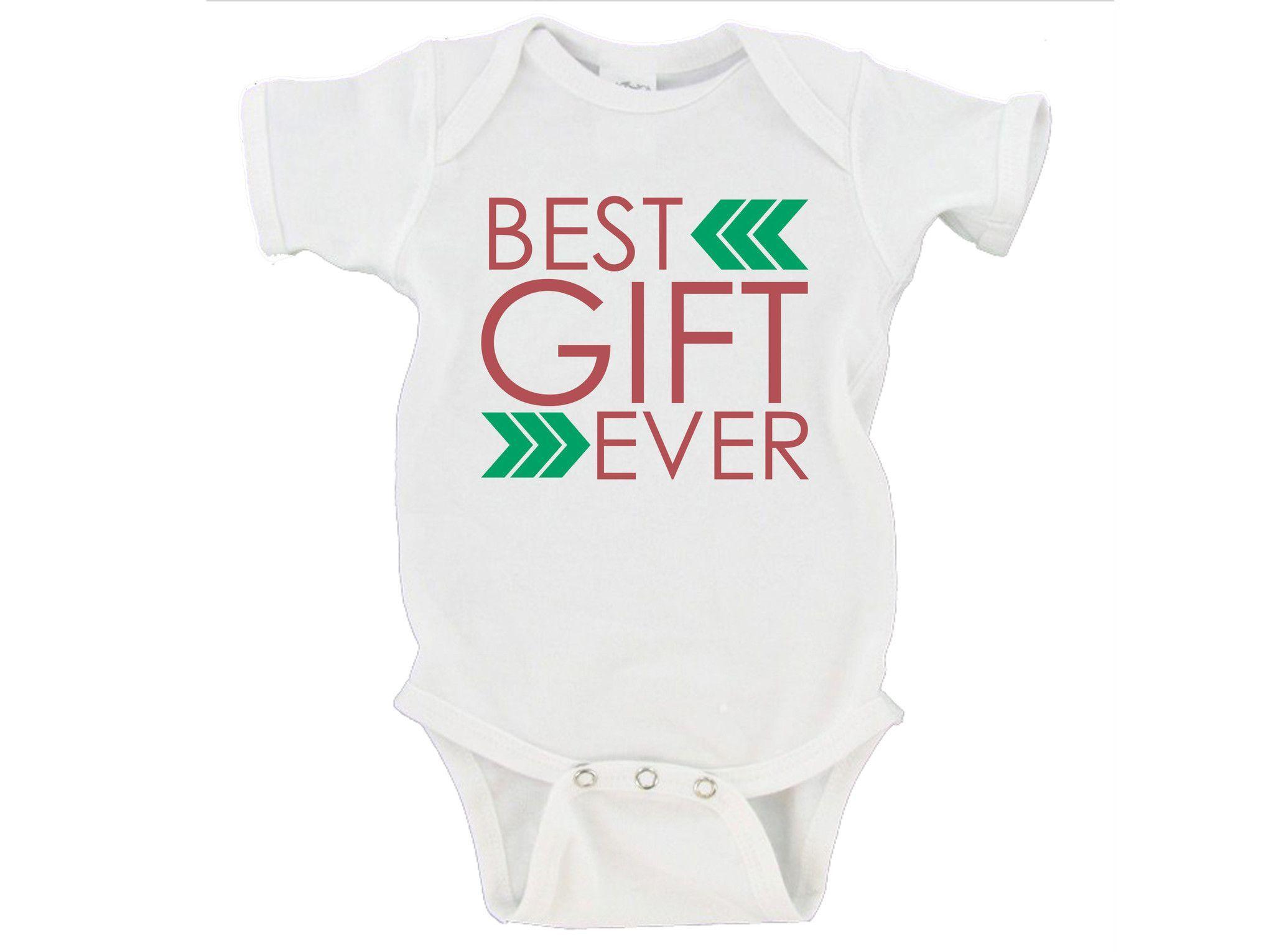 Best Gift Ever Christmas Gift Merry Christmas Gerber Onesie