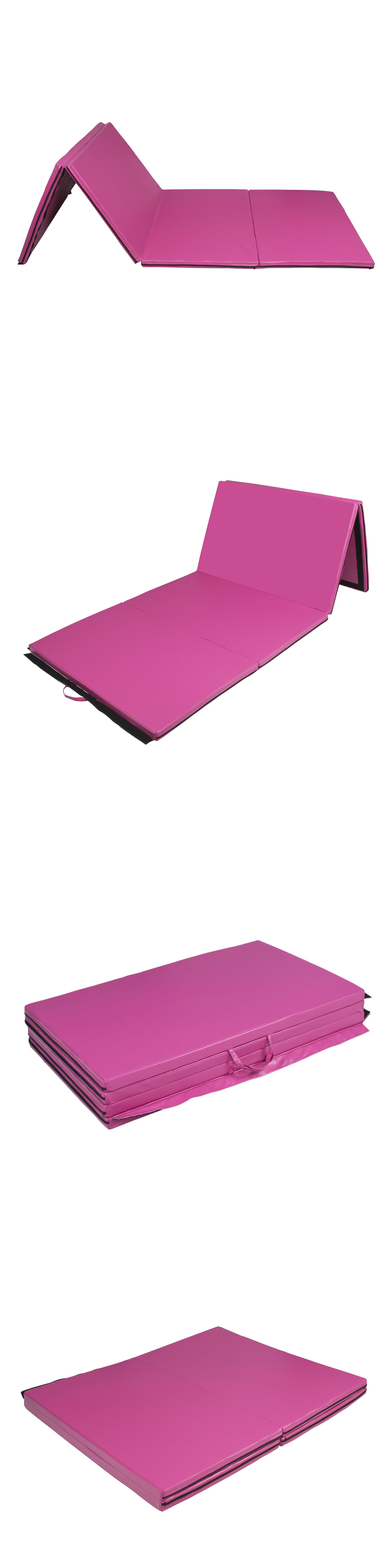 aerobics mats product folding best cheap gymnastics gym pink shop choice bestchoiceproducts rakuten exercise products mat