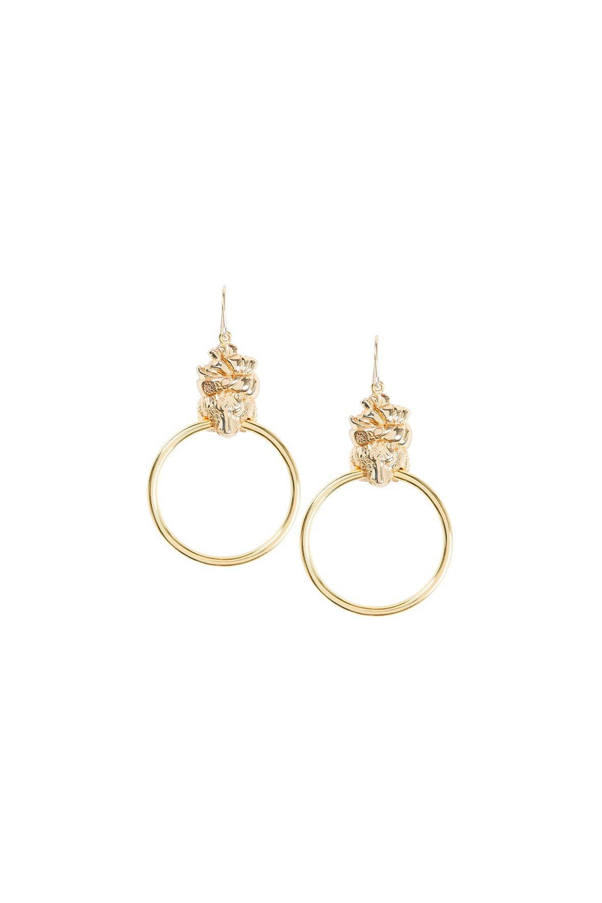 18632dfdddc33 Medium tiger hoop gold brass in 2019 | Products