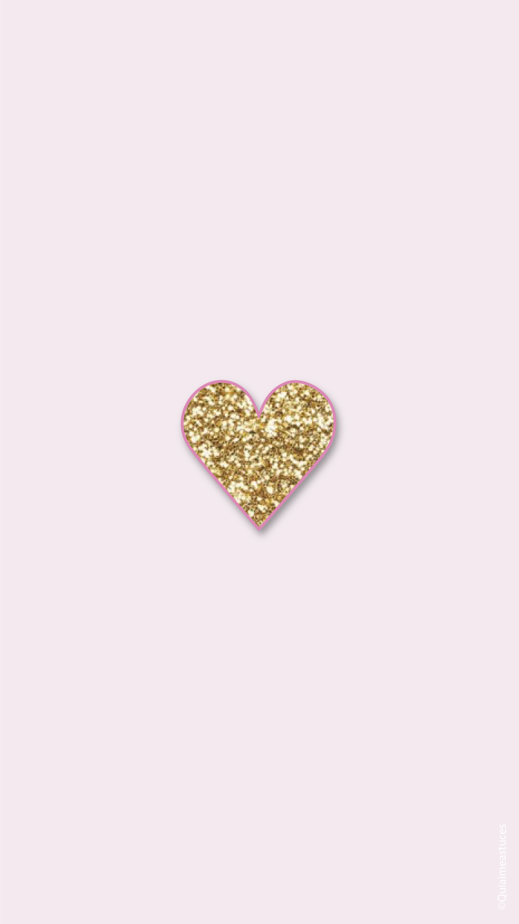 Hello Beauty! Simple Pink Gold iPhone Home Wallpaper