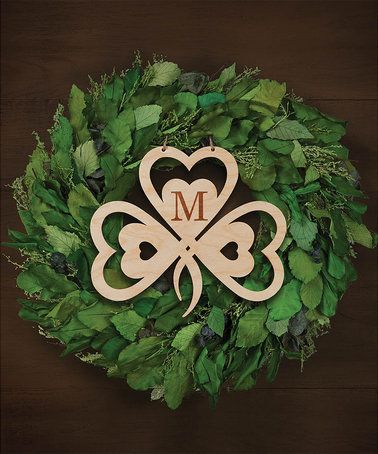 This Initial Wood Shamrock Wall Sign Is Perfect Zulilyfinds Wooden Wall Signs Wall Signs Shamrock