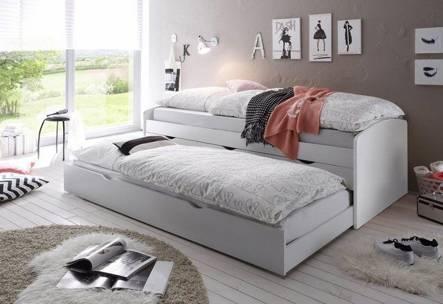 Inter Link Bett Bed Kinderbett Jugendbett G/ästebett Einzelbett modernes Bett Bio Kiefer massivholz Natur lackiert