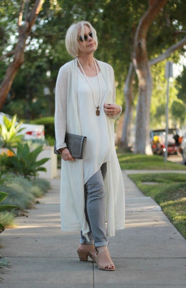 Eileen Fisher Long Linen Cardigan Outfits Over 60