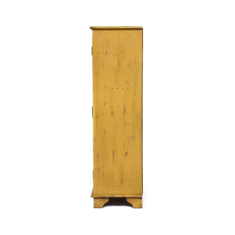 Schrank Mangoholz Schnitzen Holz