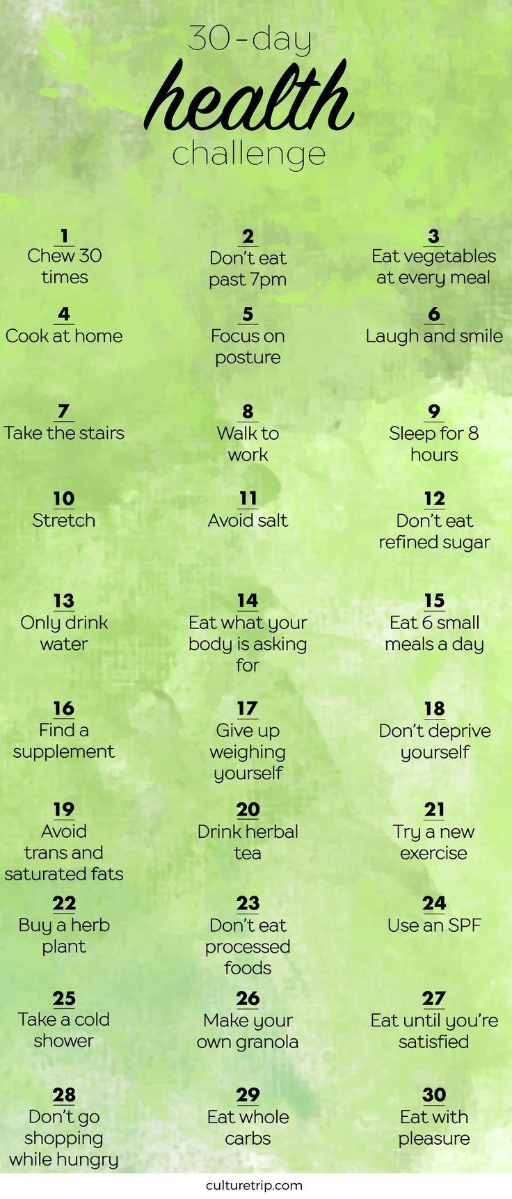 Die 30-tägige gesundheitliche Herausforderung – #30tägige #challenge #die #ges…