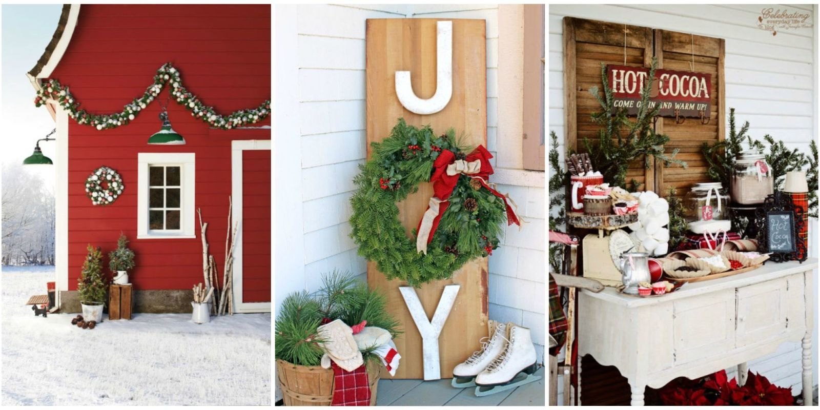 34 Classic Country Ideas for Outdoor Christmas Decorations ...