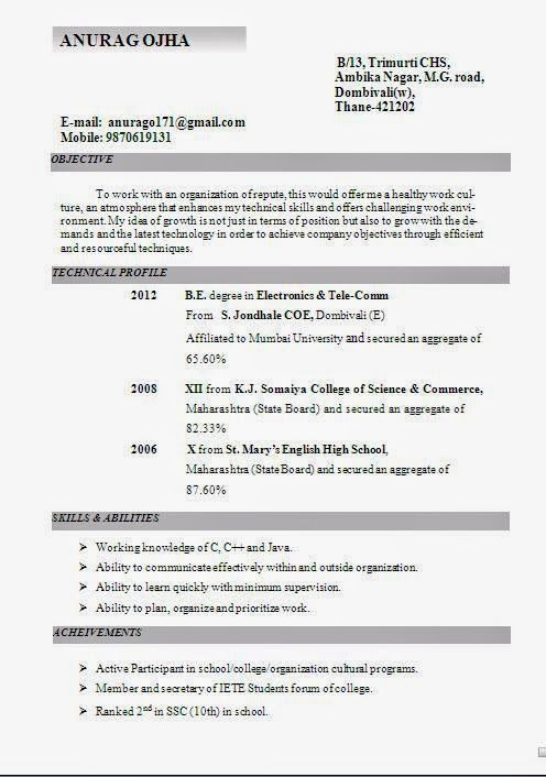 Biodata Sample Download Curriculum Vitae Resume Electronic Publishing Work Culture