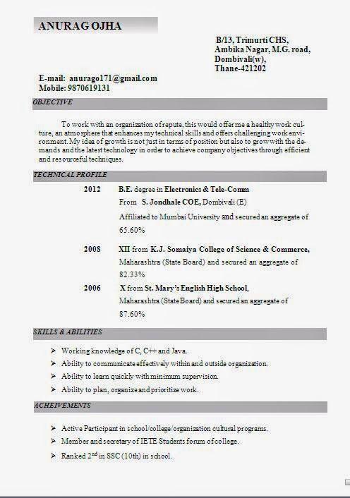 Biodata Sample Download Curriculum Vitae Resume Work Culture Electronic Publishing