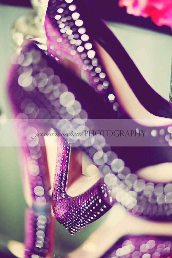 suede purple pumps - bedroom decor