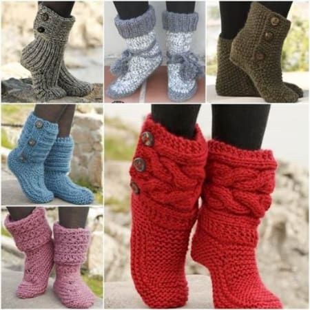 26 Wonderful Free Patterns For Crochet Boot Cuffs Crochet Slipper