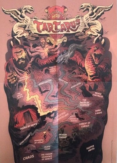Tartarus map that was included in some copies of the House of Hades