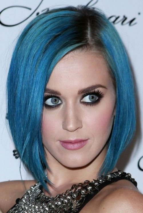Katy Perry 1 Blue Hair Short Hair Styles Green Hair