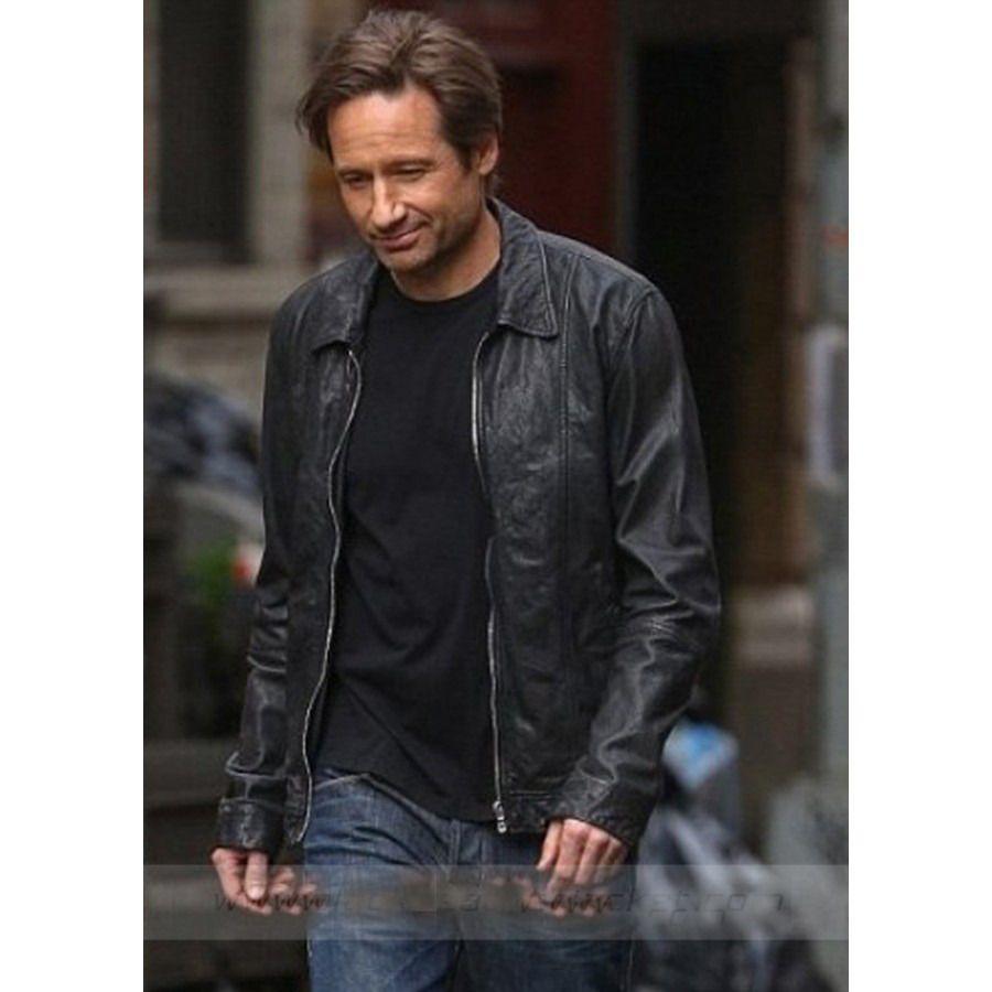 Buy Men Celebrity Look Hank Moody Californication 5 Black Real Leather Jacket