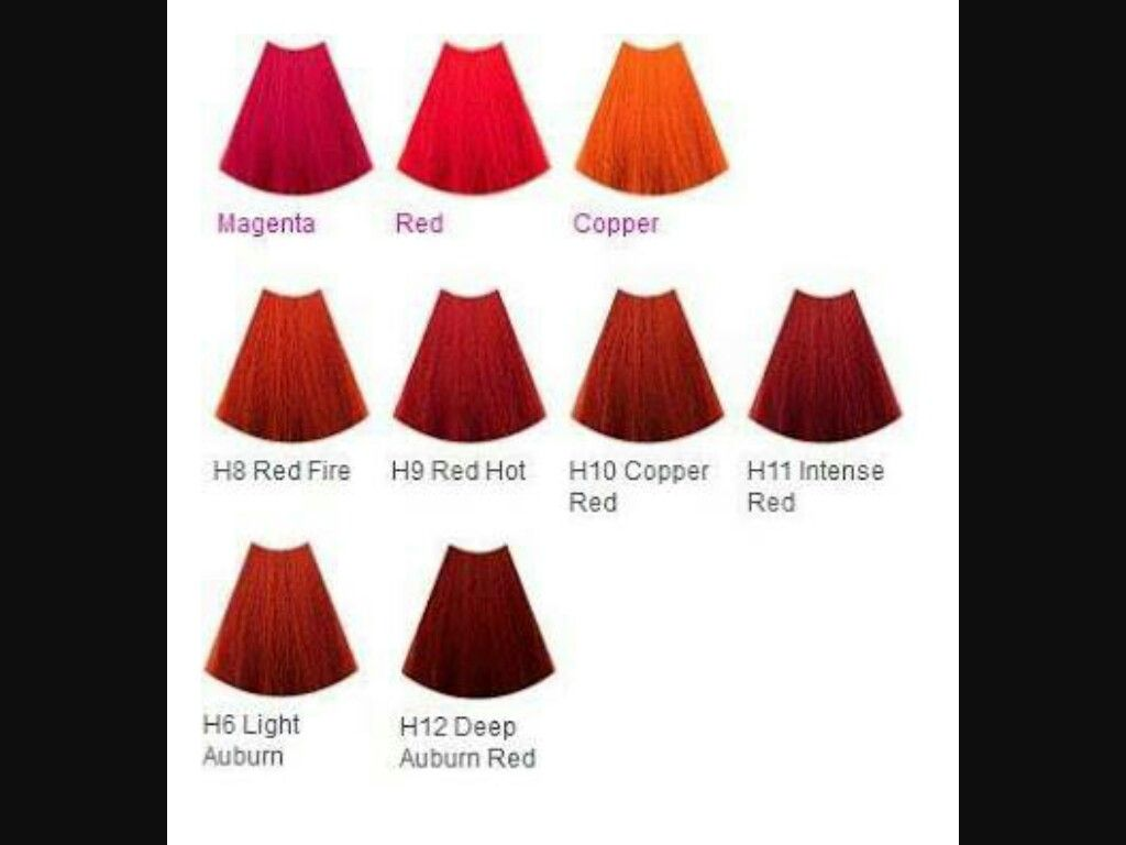 De Lorenzo Nova Color Chart Mix With Equal Part Of Developer Red Hair Color Shades Of Red Red Hair