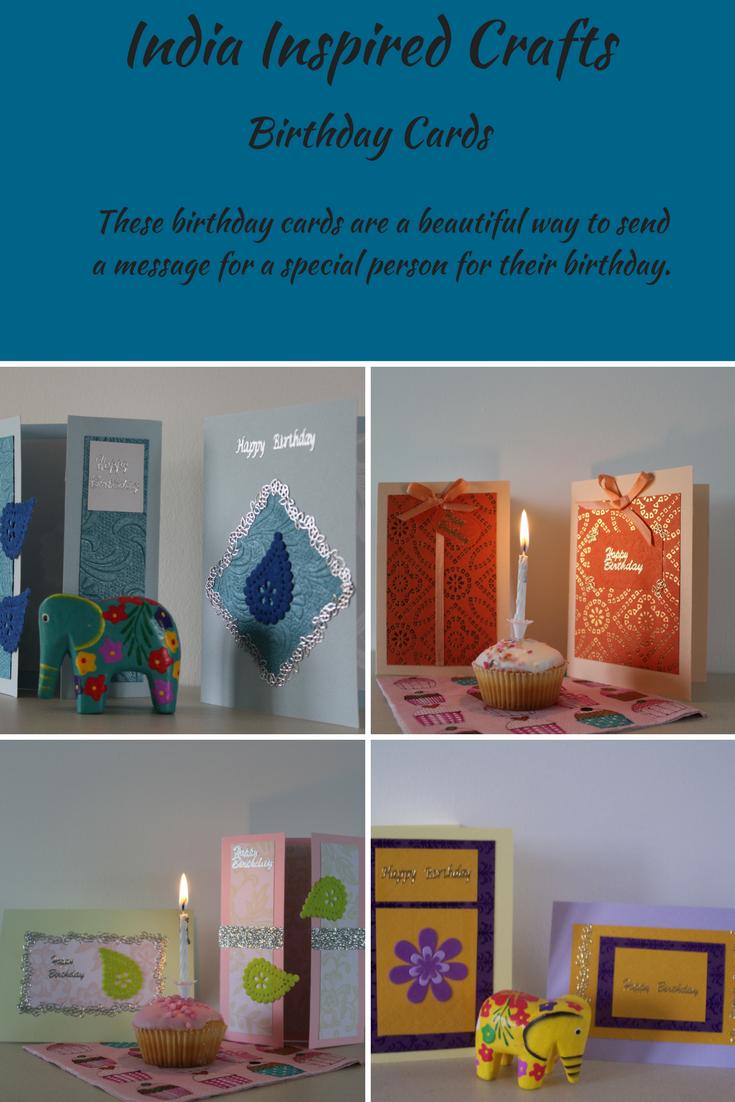 Indian design Birthday cards Birthday card craft