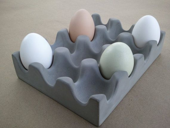 Kreteware Concrete - egg tray for table, counter, serving use or