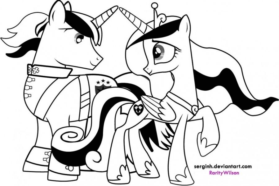 Princess Cadence and Shining Armor coloring pages | Fun Coloring ...