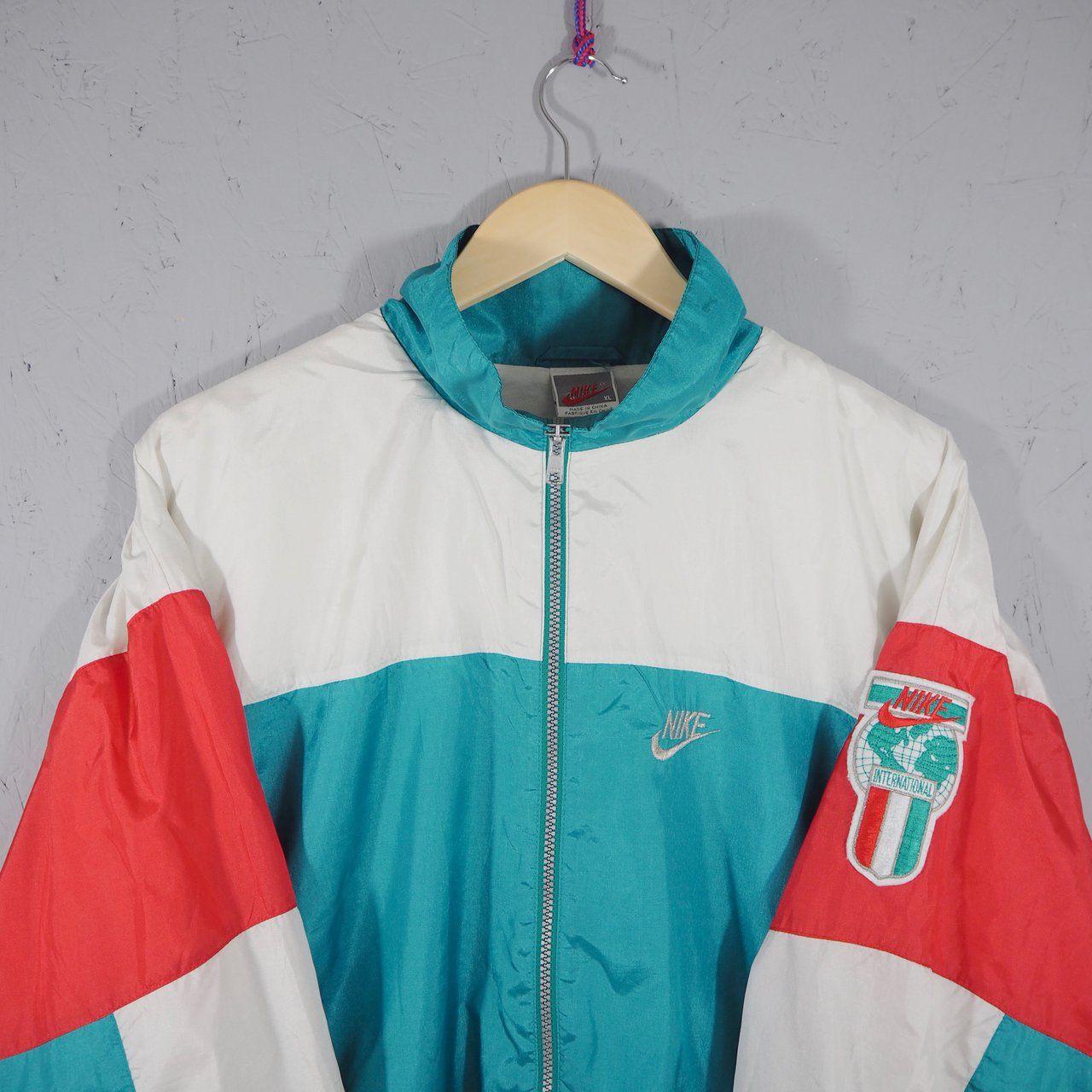 c5a0dfa60 Vintage Nike Tracksuit Jacket 🔥 OG Grey label (late 90s) a - Depop