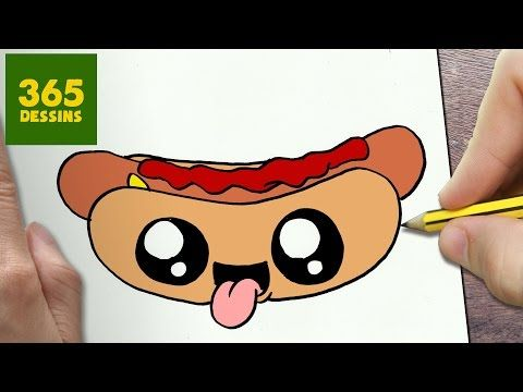 Comment Dessiner Hot Dog Kawaii étape Par étape Dessins Kawaii