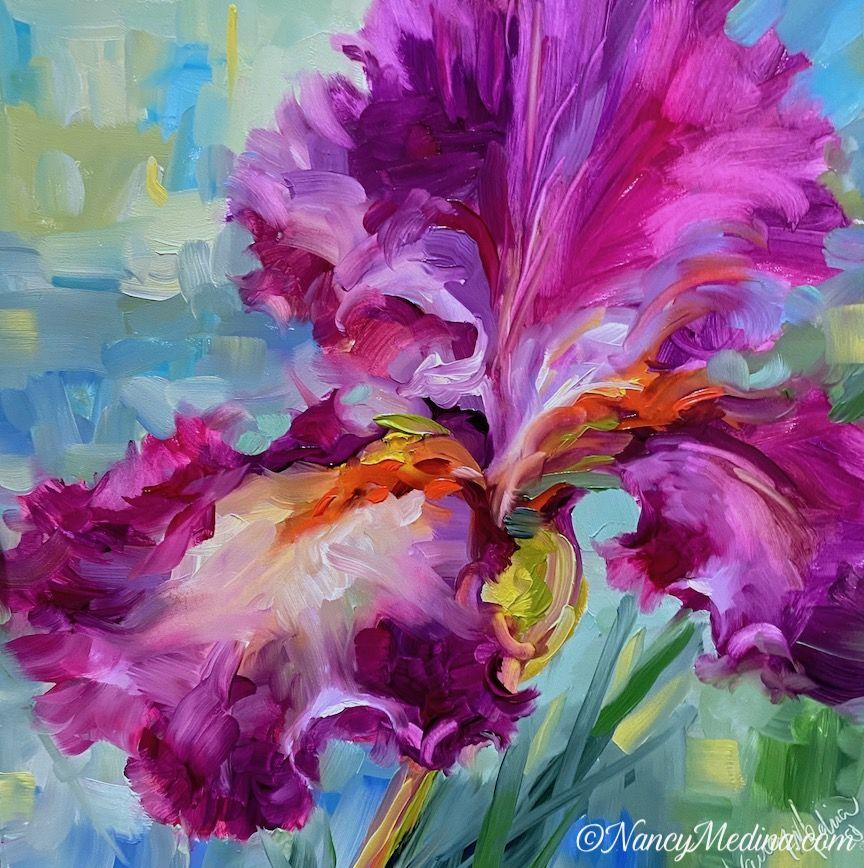 Pink Flight Iris #onlineclasses