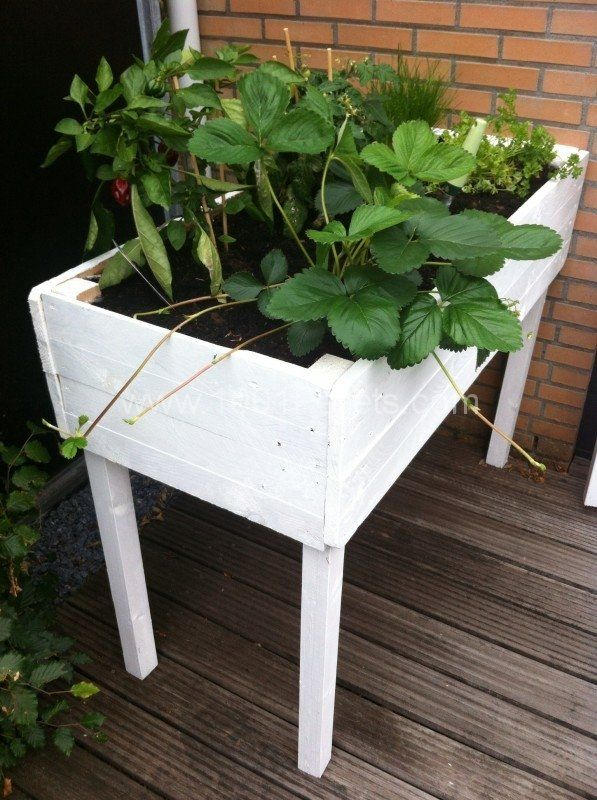 Pallet Herbs Table Planter Planter Table Pallets Garden Herb