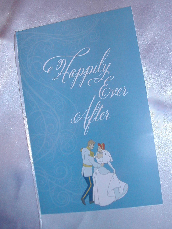 Cinderella themed Wedding Program | Belluccia font ...