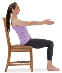 love this chair modified navasana boat pose excellent