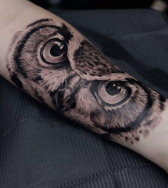 Owl Eyes Tattoo