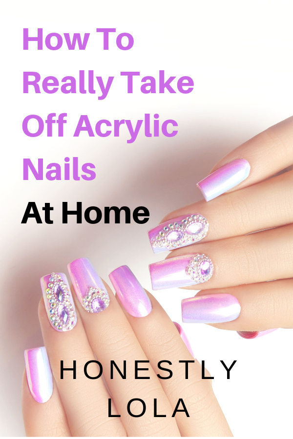 How To Easily Remove Thick Acrylic Nails At Home What Supplies And Tools You Need To Keep Yo Remove Acrylic Nails Take Off Acrylic Nails Acrylic Nails At Home