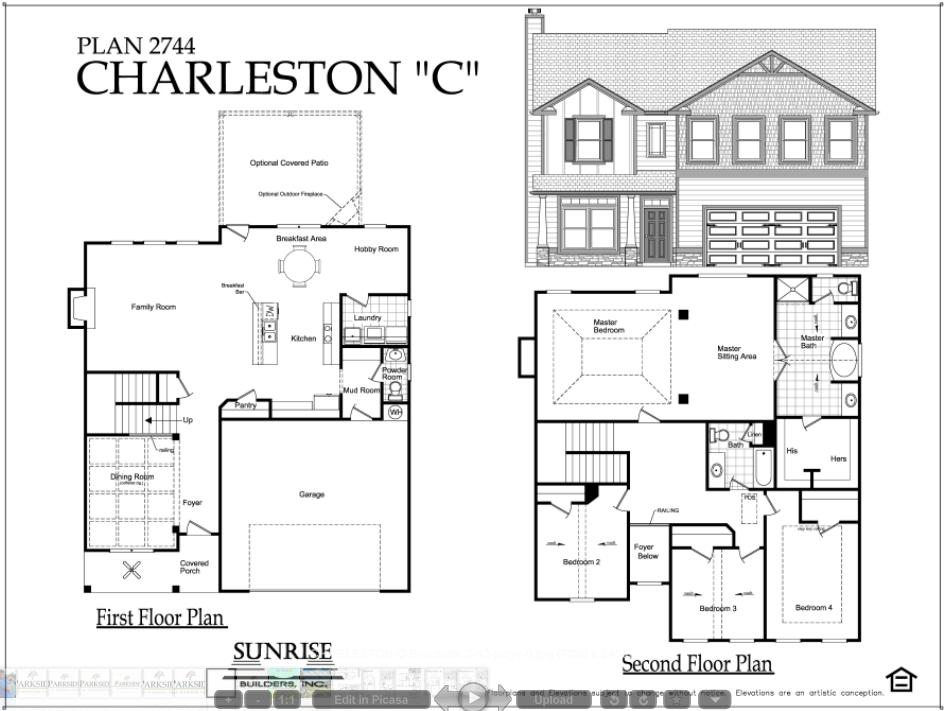 Charleston C Floor Plans Second Floor Charleston