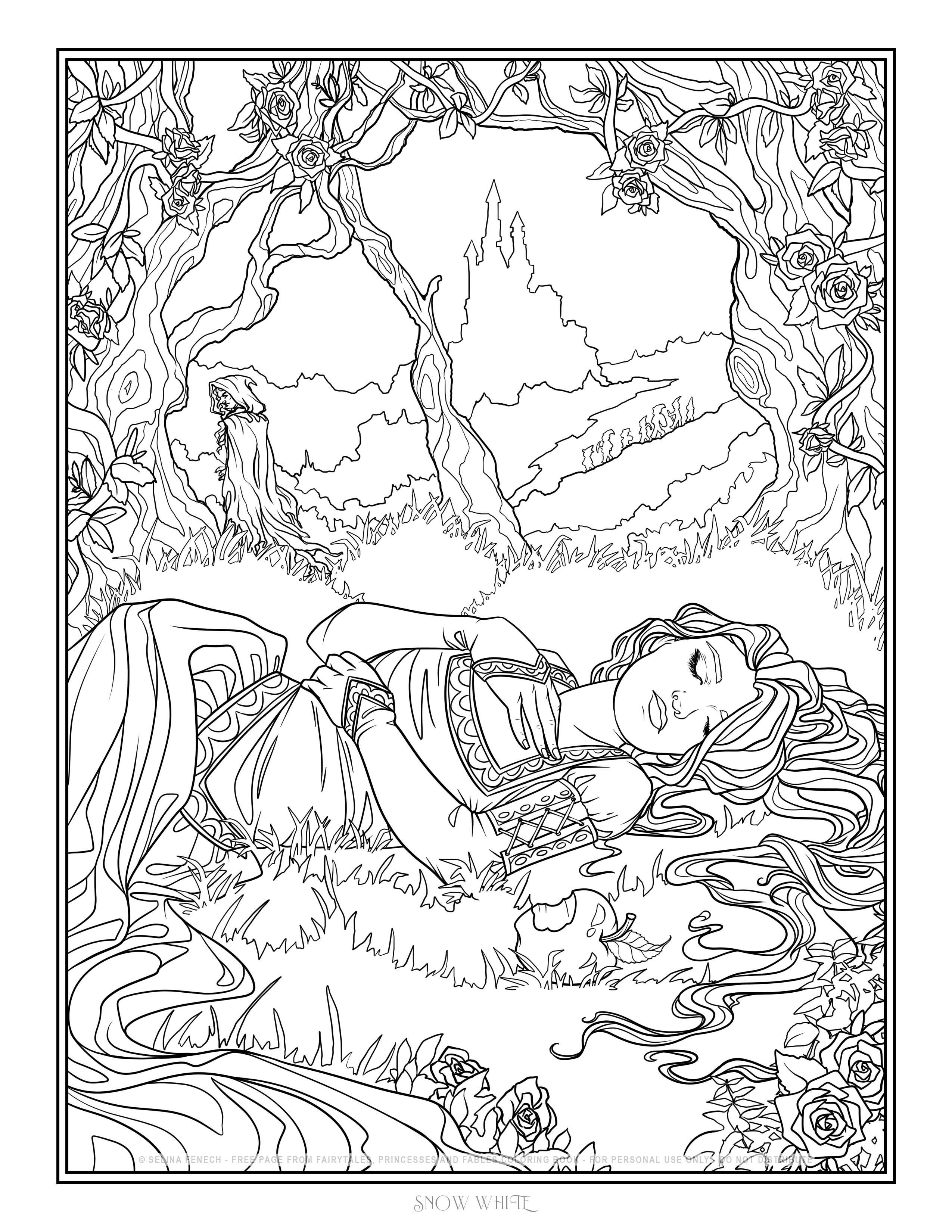 - Snow White By Selina Fenech Witch Coloring Pages, Cute Coloring