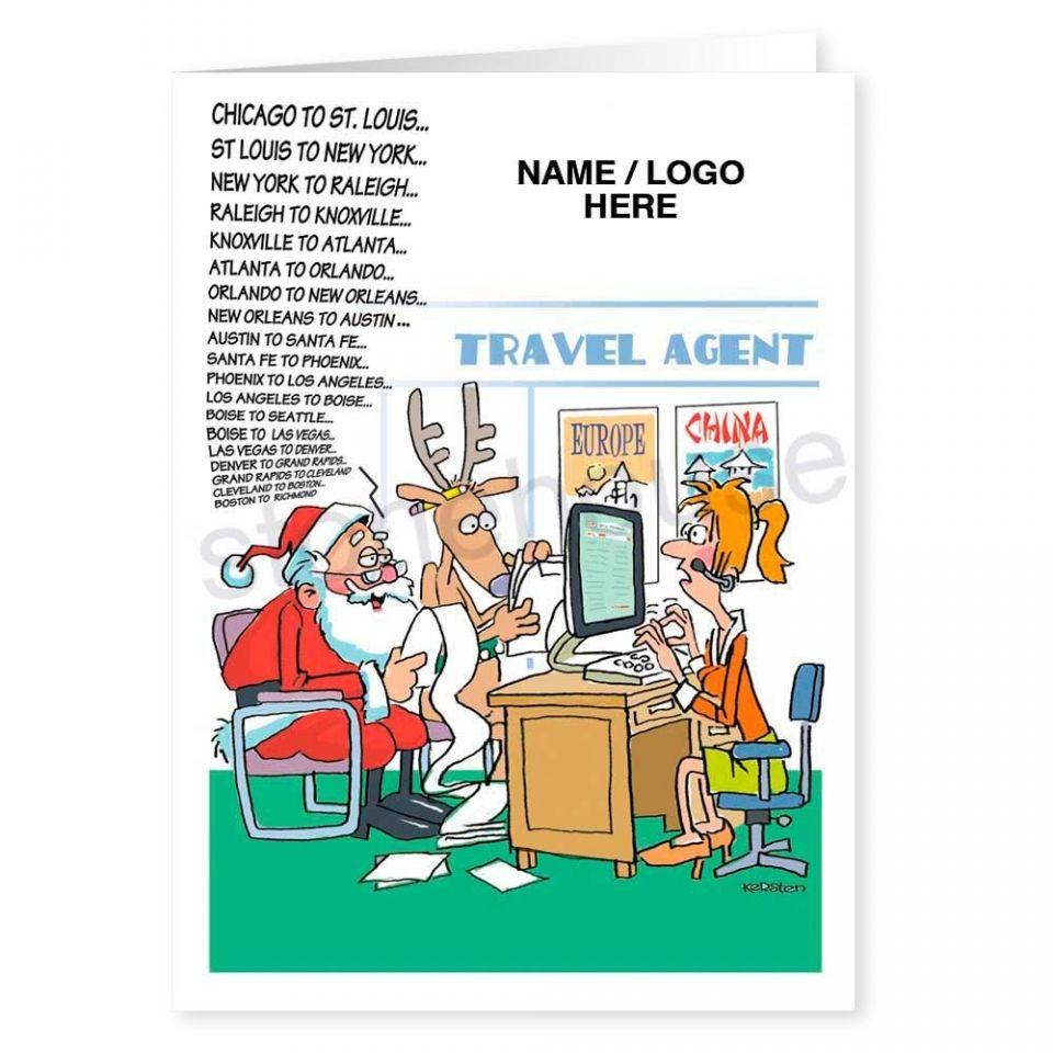 Santa Needs A Travel Agent Logo Card Logos cards, Cards