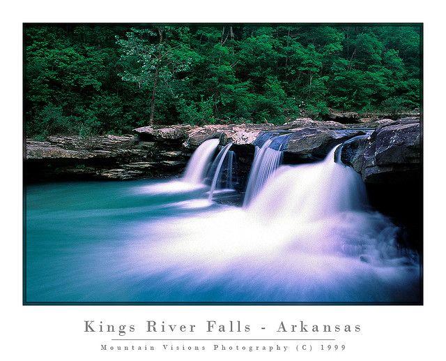 Kings River Falls Ozark Mountains Arkansas C 1999 Ozark Trail
