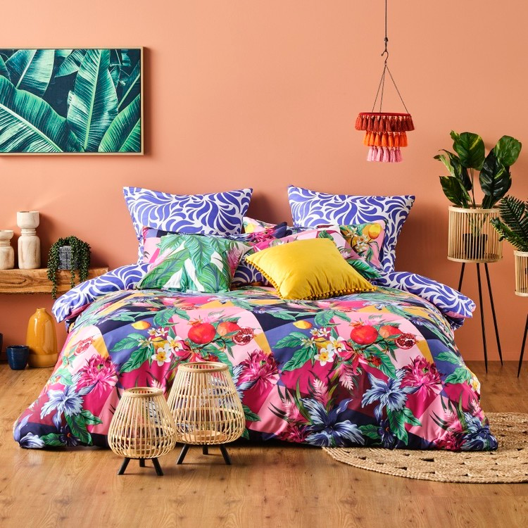 Ombre Home Mediterranean Summer Fiesta Quilt Cover Set Multicoloured Single Bed Quilt Cover Quilt Cover Sets Single Size Bed