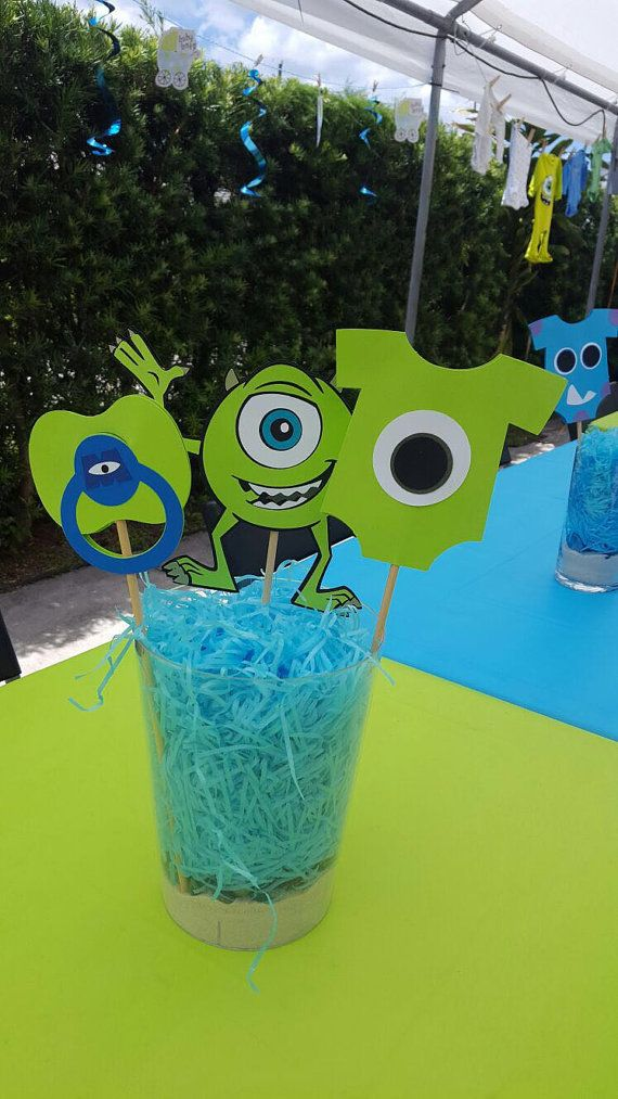 Monsters Inc Baby Shower Centerpiecesmonsters By Cre8ivedesignss